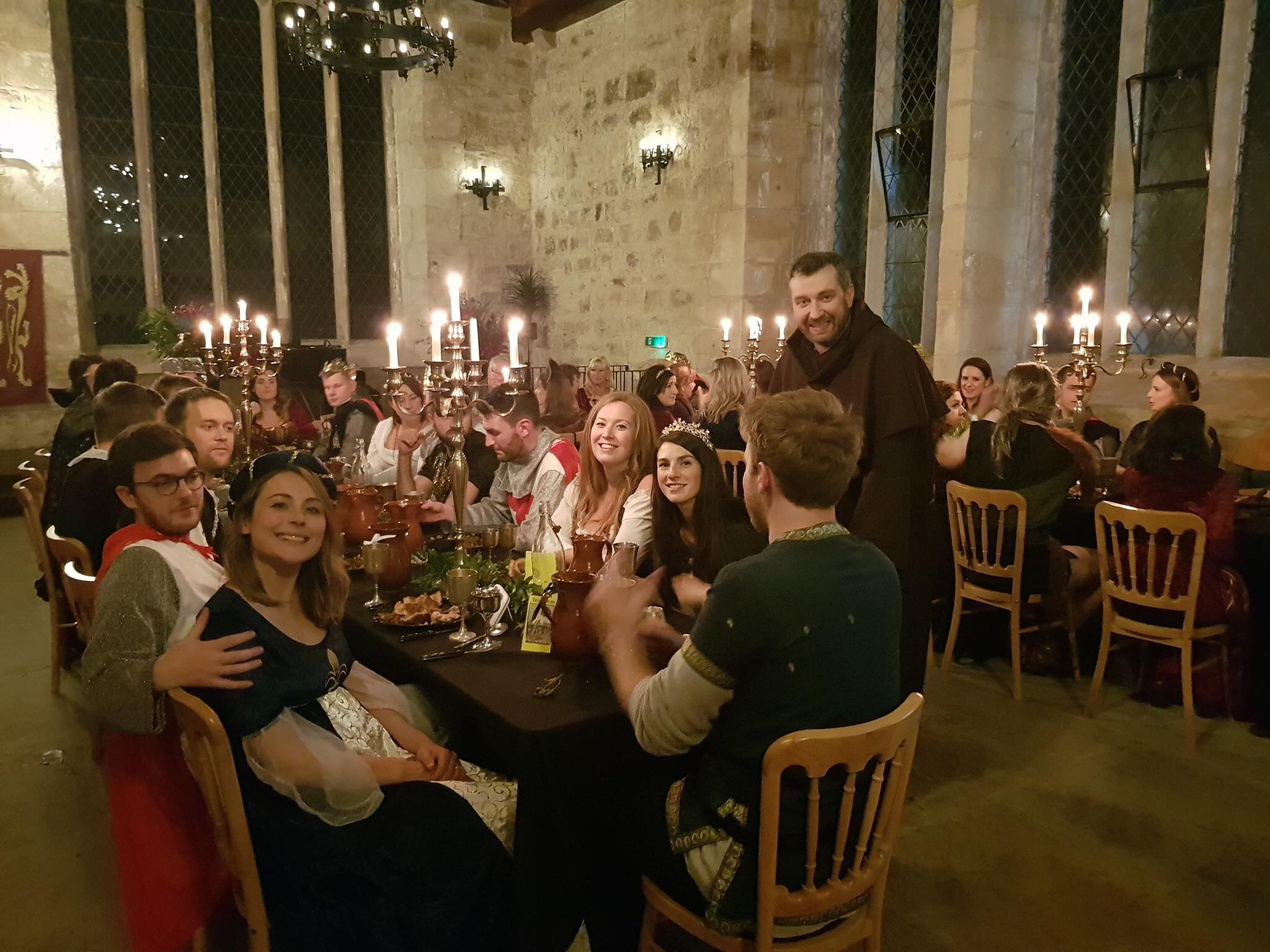 A medieval banquet in the Chapel
